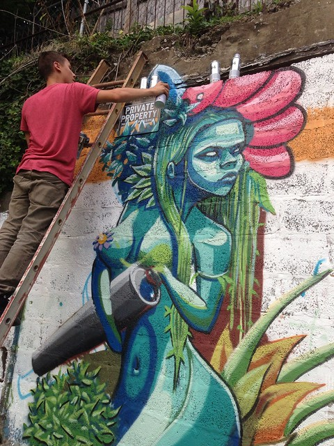 The mural is going up at the atlas street garden flickr for Mural go green