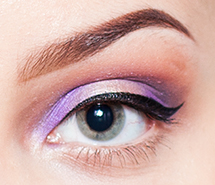 Close-up of a look created with Stila's In The Moment eyeshadow palette