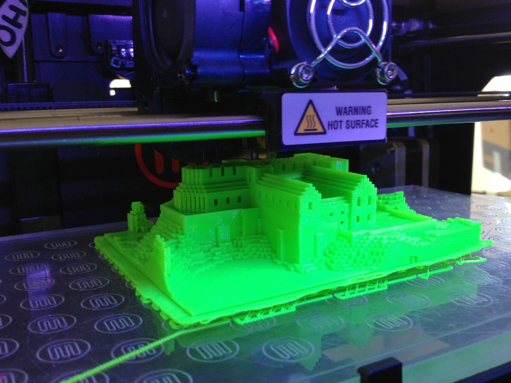 Printing Minecraft models on a MakerBot Replicator 2