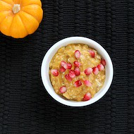 Vegan Pumpkin Spice Overnight Oatmeal