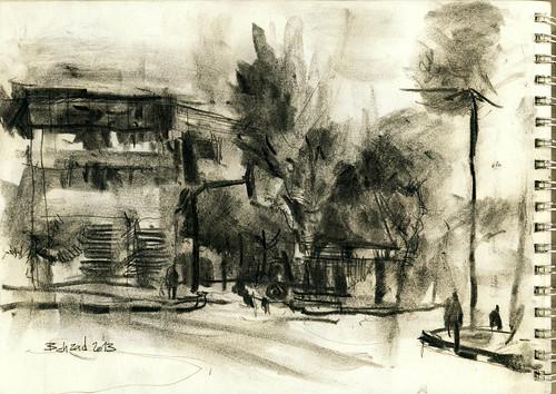 Imam Hossein Square (Dolat Portal- دروازه دولت) 3 by Behzad Bagheri Sketches