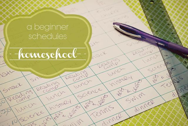 beginner homeschool schedule in_the_know_mom