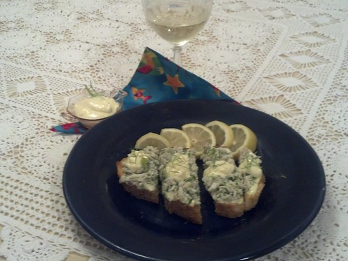 Crab Toast with Lemon Aioli Laurie
