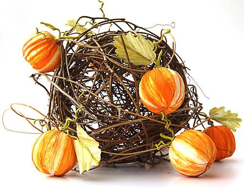 paper twine pumpkin centerpiece