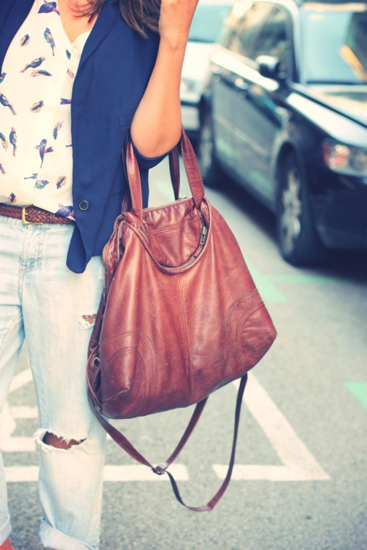 Look Boyfriend Jeans + Blazer azul - Monicositas
