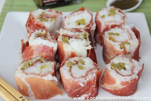Maki Sushi de jamón y espárragos verdes (19)
