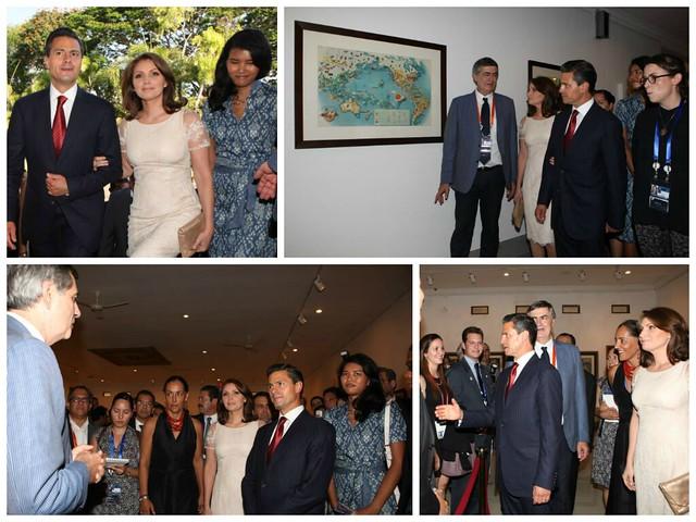 """El Presidente Enrique Peña inaugura la exposición """"Miguel Covarrubias y Bali."""