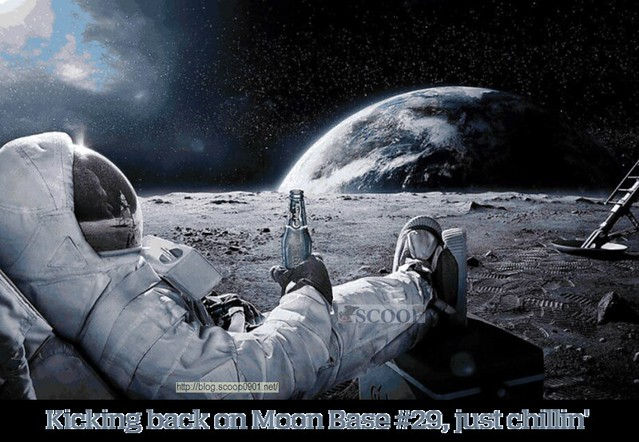 Astronaut Chilling On the Moon (page 3) - Pics about space