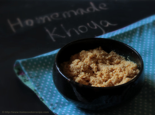 Homemade khoya