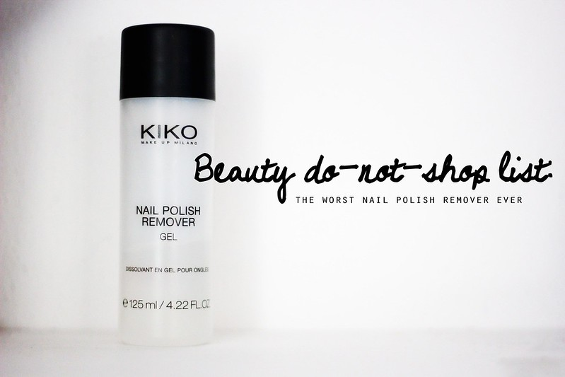 Kiko nailpolish remover gel, il peggior solvente levasmalto di sempre