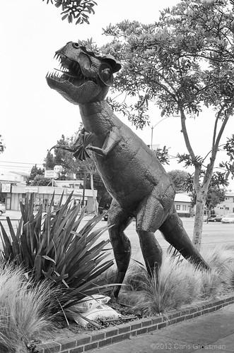 Car Wash Dinosaur - Olympus 35SP - TMAX 100