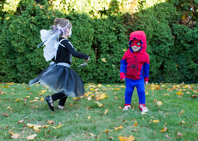 spider-man and skeleton fairy costumes