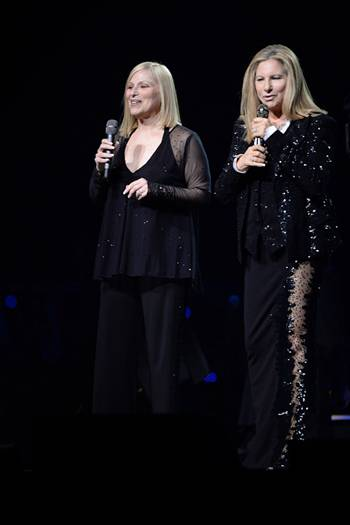 Roslyn Kind and Barbra Streisand