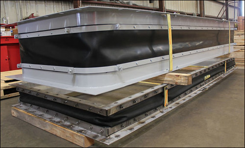 Fabric Expansion Joint Custom Designed for an Exhaust Application in a Gas Turbine Facility