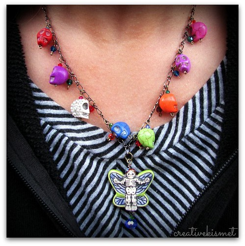 day of the dead necklace by Regina Lord