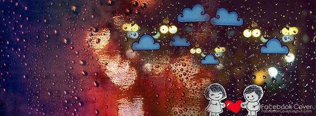 Love In Rain Facebook Cover Photo