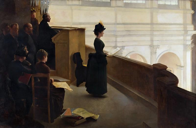Henry Lerolle - The Organ Rehearsal (c.1885)