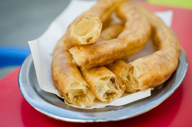 A fresh platter of churros from Sevilla's La Centuria cafe right under Las Setas.