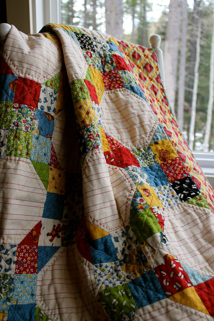 American Jane Snowball 9 Patch Quilt