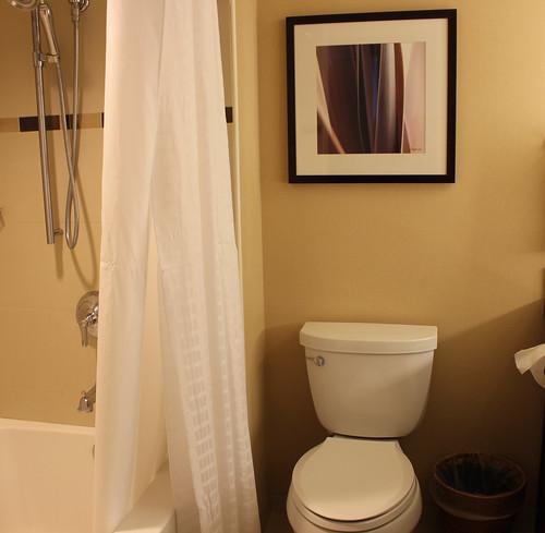 洗面所と同室のバスルームとトイレ