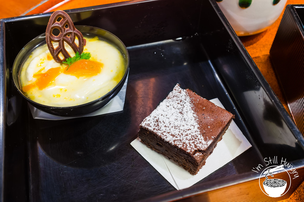 Gateaux chocolate & kumquat cup w/mascarpone & yoghurt azuma let's do dessert
