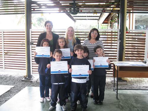 Entrega dos certificados da Olimpíada de Matemática