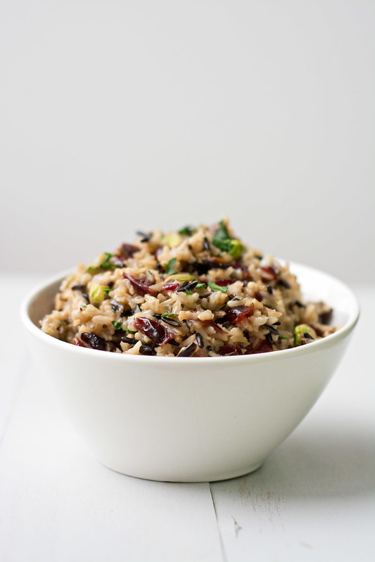 Wild Rice Pilaf with Cranberries and Pistachios