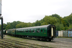 RD8336.  Even if it didn't have any steam locomotives, the Bluebell Railway would be worth visiting for the splendid vintage coaching stock alone!    This Builleid Southern Railway design 3rd class open coach was actually built by British Railways in 1950, two years after the Southern Railway has ce...