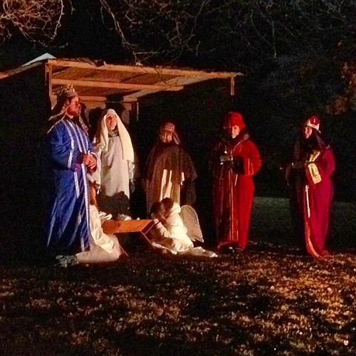 Live nativity at our church