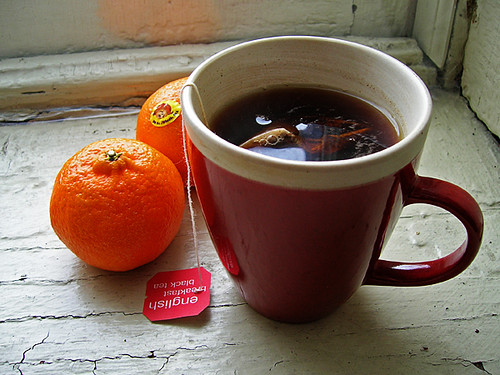 black tea and cuties