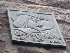Photo of George Jamesone bronze plaque