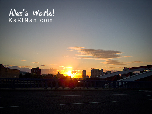 Sunset from Trafford Road 'Swing Bridge' across The Manchester Ship Canal