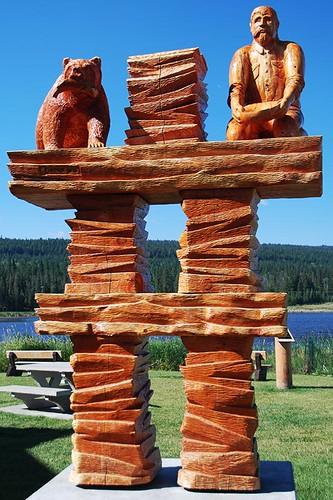 100 Mile House, Highway 97, Cariboo, British Columbia, Canada