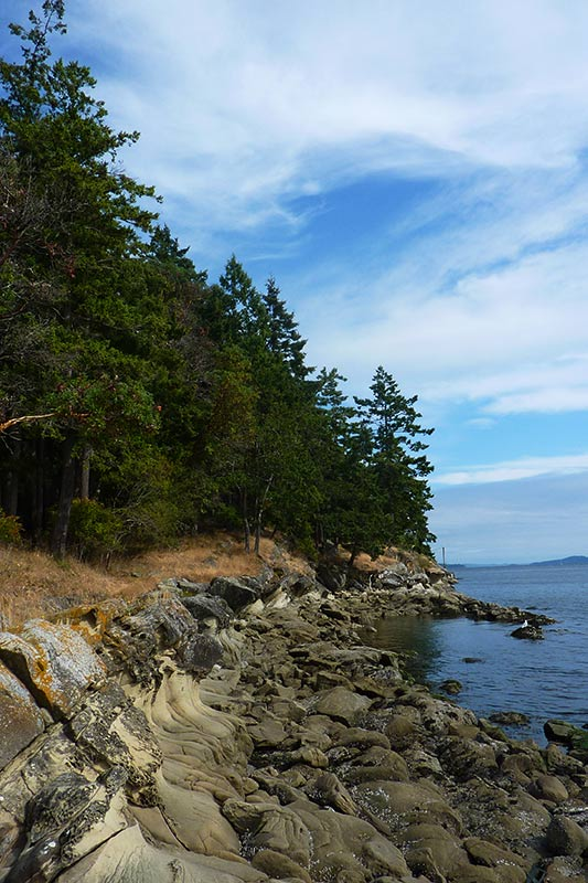 Gallagher Bay, facing Piggott Bay, on Mayne Island, Southern Gulf Islands, British Columbia