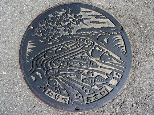 Takebe Okayama, manhole cover (岡山県建部町のマンホール)