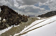 Foto per 11. Il Rifugio Studl Hutte sulla sella Fanot Scharte.