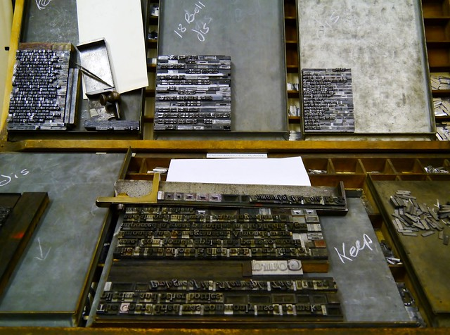 Typesetting, Story Museum Oxford