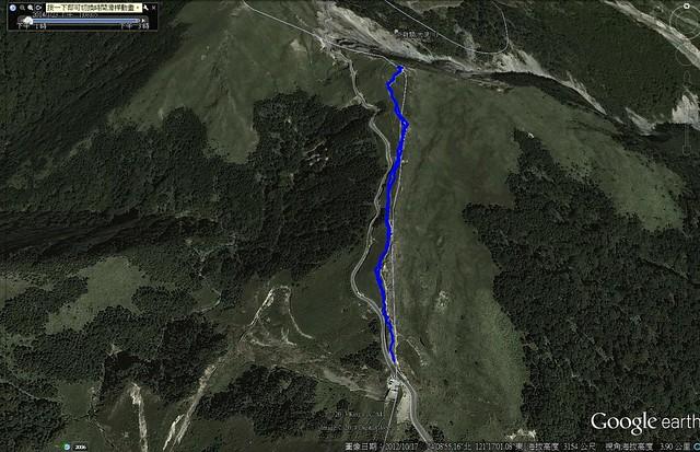 攀登石門山路線圖