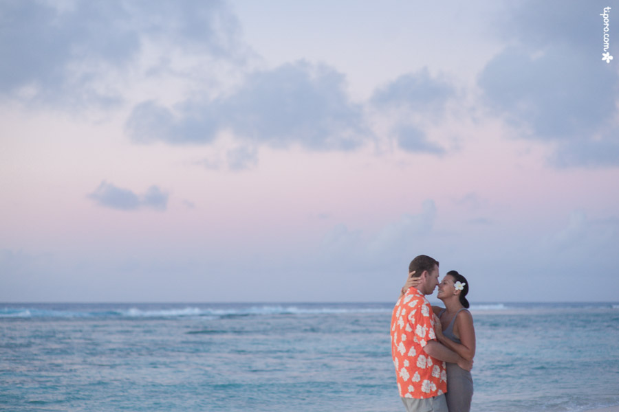 Epic. couple photos Rarotonga, beach, sunset