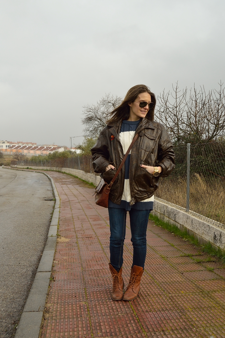 lara-vazquez-madlula-blog-vintage-look-aviator-mood-brown-leather-jacket
