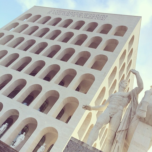"The symbol of the EUR, the ""square colosseum"""