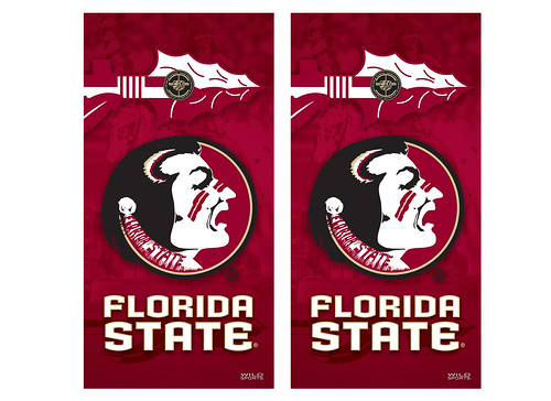 Florida State Cornhole Game Decal Set