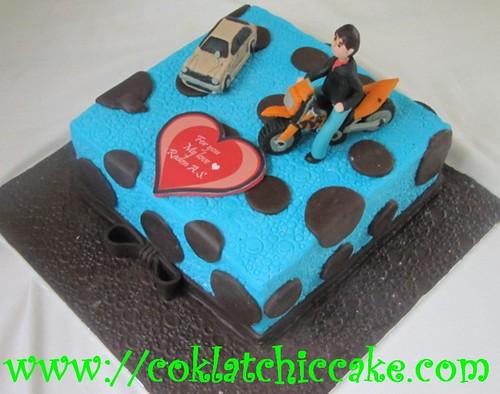 Kue Ulang Tahun Motor Trail Raden A S Coklatchic Cake