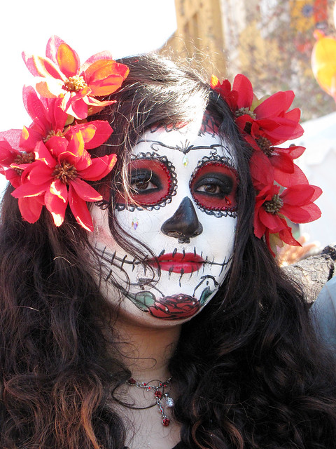 Woman with Day of the Dead Makeup Photo by Sherrie Thai of ShaireProductions.com