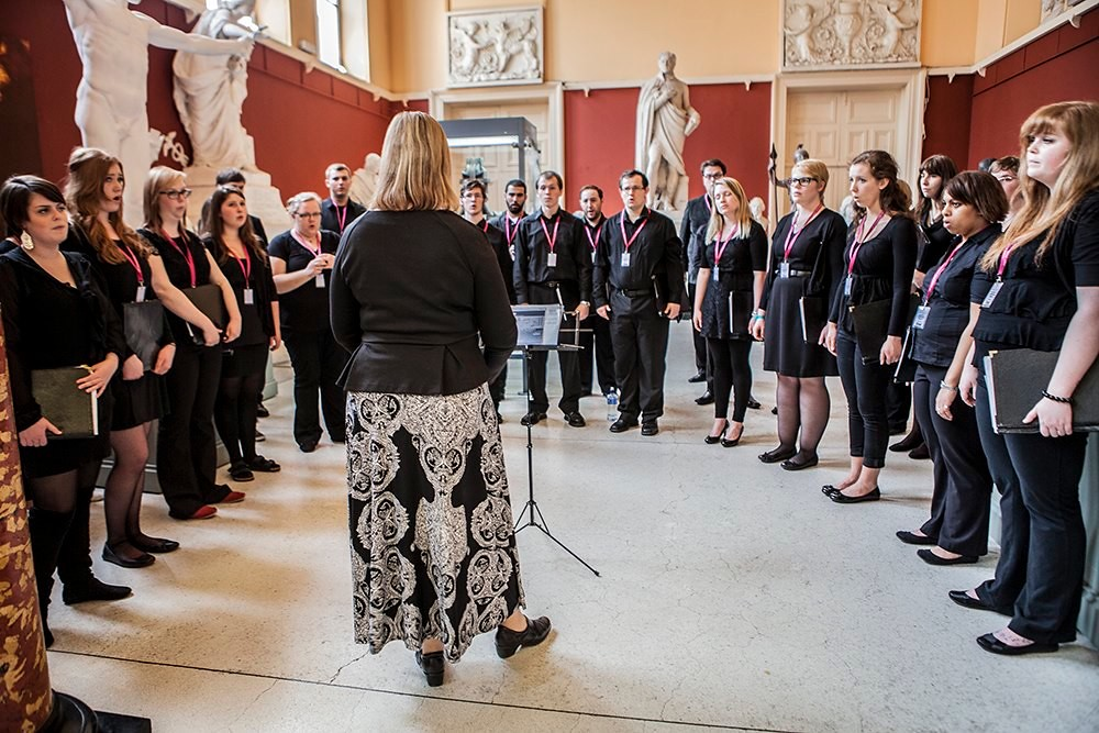 Lethbridge University Singers peforms at the Crawford Art Gallery in Cork