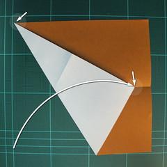 วิธีการพับกระดาษเป็นรูปกบ (แบบโคลัมเบี้ยน) (Origami Frog) 004