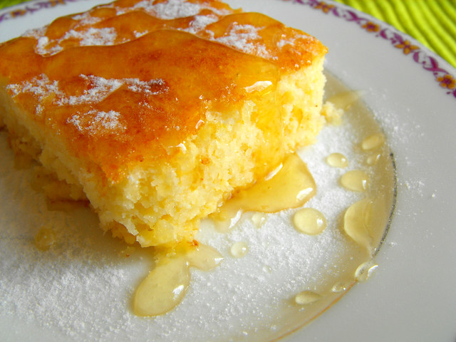 Tarte de requeijão com coco e mel
