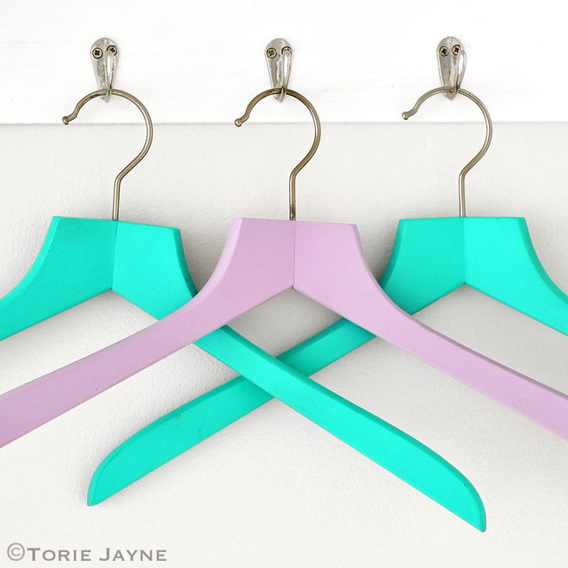 Spray painted hangers