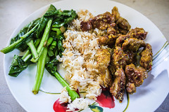 Lemongrass Chicken with Rice and Choy Sum
