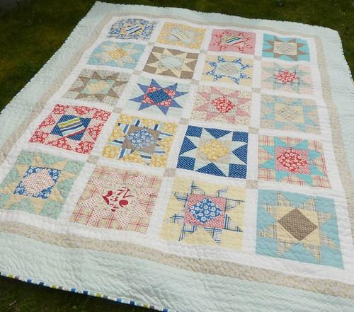 Seaside stars quilt3